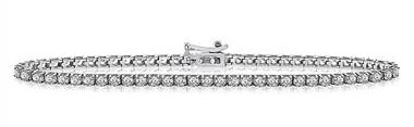 Diamond Tennis Line Bracelet in 14K White Gold (2 cttw.)