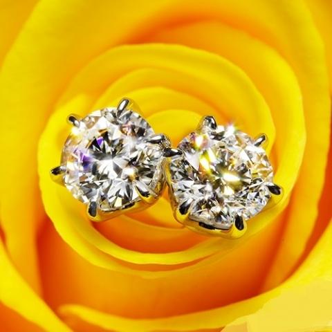Diamondseeker 2.55 ctw ACA Stud Earrings