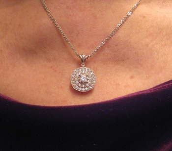 Diamond Pendant on Neck