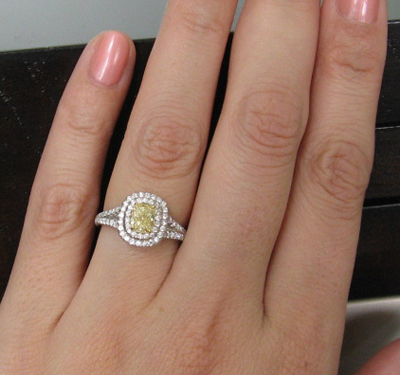Jewel Of The Week Tiffany Inspired Yellow Diamond Ring