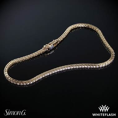 Simon G. caviar diamond bracelet set in 18K rose gold at Whiteflash