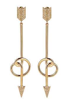 Elena Votsi diamond arrow earrings