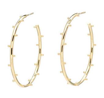 Elizabeth Showers 18k gold hoop earrings