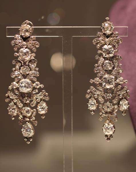 Elizabeth Taylor Exhibition - Antique Diamond Earrings