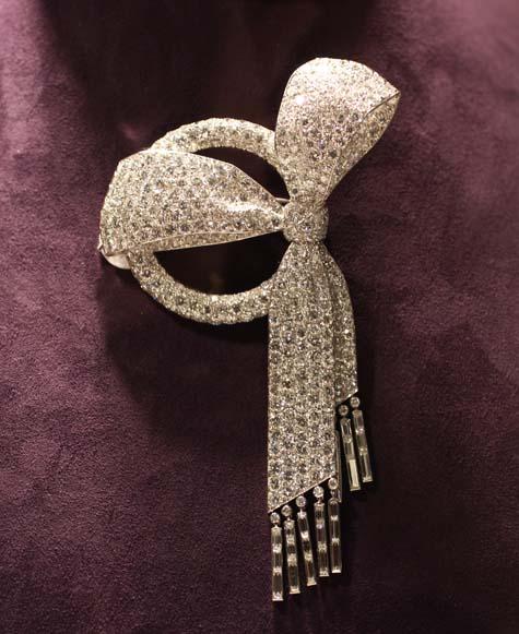 Elizabeth Taylor Exhibition - Art Deco Diamond Bow Brooch by Van Cleef & Arpels