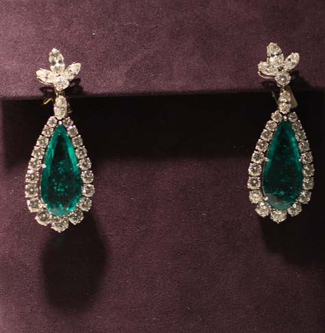 Bulgari Emerald and Diamond Earrings - Elizabeth Taylor