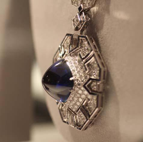 Elizabeth Taylor Exhibition - Bulgari Sapphire Sautoir, detail