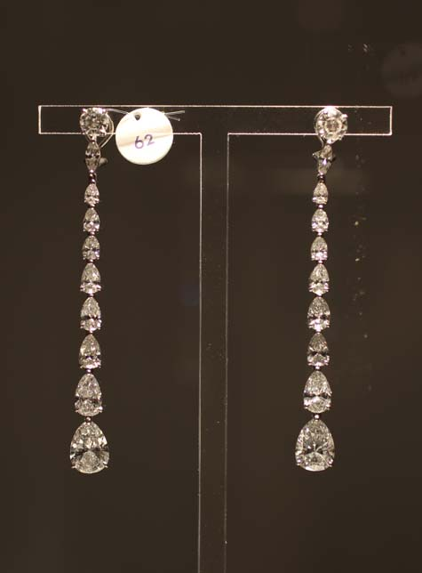 Elizabeth Taylor Exhibition - Diamond Earrings by Cartier