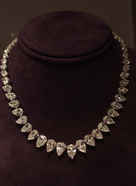 Elizabeth Taylor Exhibition - Diamond Necklace by Cartier