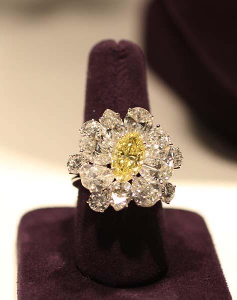 Elizabeth Taylor Exhibition - Colored Diamond Ring by Bulgari