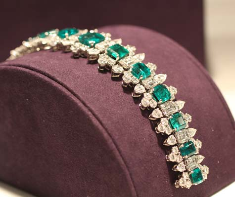 Bulgari Emerald and Diamond Bracelet - Elizabeth Taylor