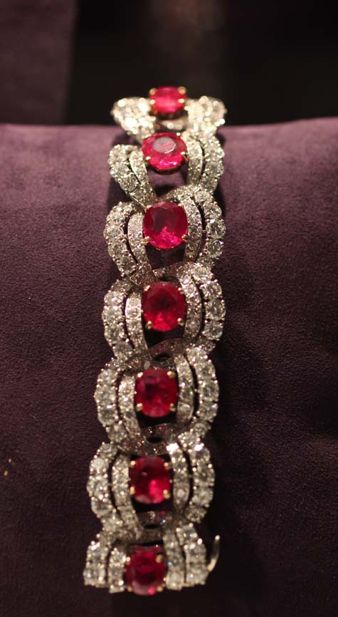 Cartier Ruby and Diamond Bracelet - Elizabeth Taylor