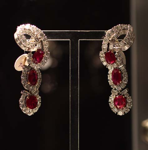 Cartier Ruby and Diamond Earrings - Elizabeth Taylor