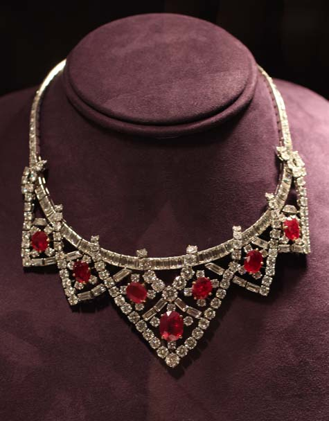 Cartier Ruby and Diamond Necklace - Elizabeth Taylor