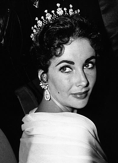 Elizabeth Taylor wearing Diamond Tiara from Mike Todd
