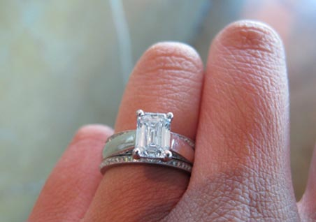 Jewel of the Week Emerald Cut Diamond Wedding Set PriceScope