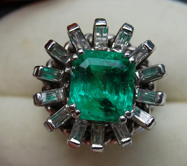 Before shot of Emerald ring