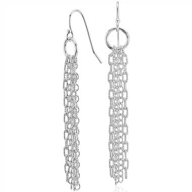 Fringe chandelier drop earrings set in sterling silver at Blue Nile