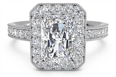 Vintage diamond engagement ring with surprise diamonds at Ritani