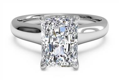 Emerald Cut Diamond Engagement Ring from Ritani