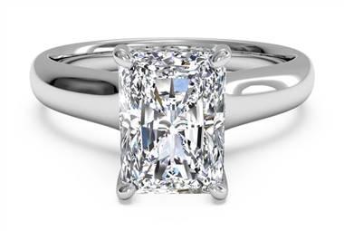Emerald Cut Diamond Engagement Ring from Ritani