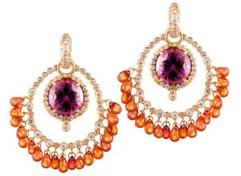 Erica Courtney Orange Cha Cha earrings