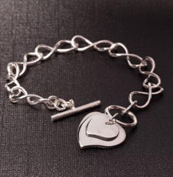Eternity Heart Bracelet for Women's Heart Disease Awareness