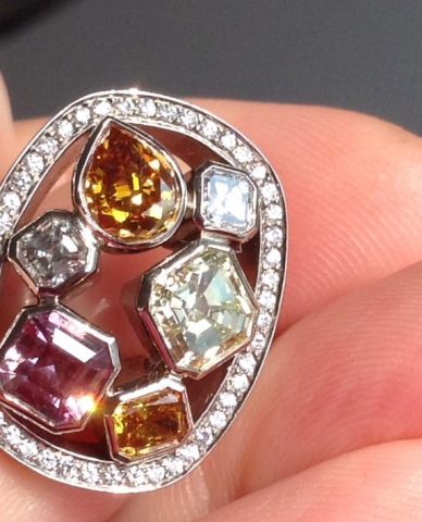 Fancy colored diamond ring - image by mariedtiger