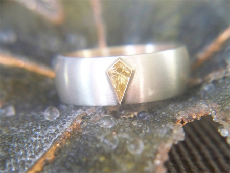 Men's Yellow Diamond Ring