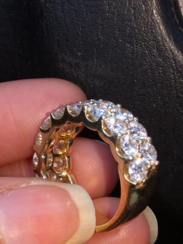 3/4 around the finger diamond coverage