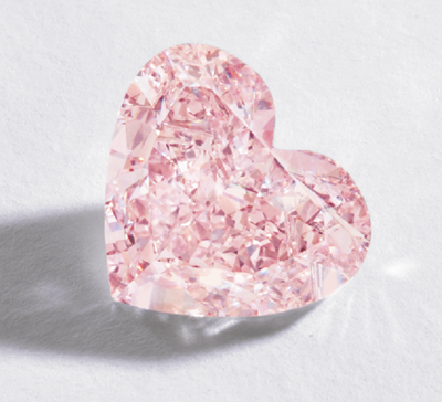5ct orangey-pink heart-shaped diamond from Sotheby's Important Jewels Sale