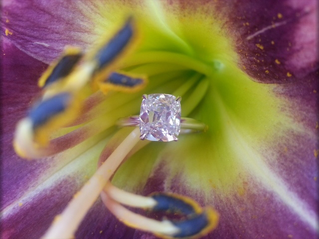 Cushion-cut diamond ring shared by lknvrb4