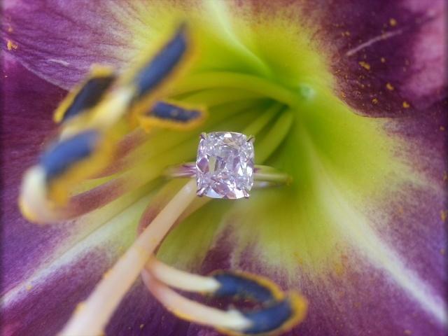 Cushion-cut diamond ring shared by lknvrb4