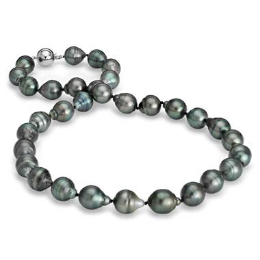 Baroque Tahitian cultured pearl necklace with 18K white gold at Blue Nile