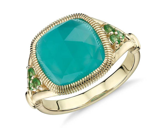Blue Nile - Holiday Special on Frances Gadbois Aqua Chalcedony Cushion Cut Cocktail Ring