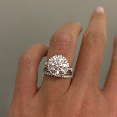 Frankiextah 3+ctw Round Brilliant in Halo Engagement Ring