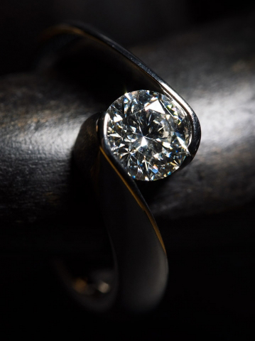 Gelin Abaci Tension-Set Diamond Ring - Image by Fey