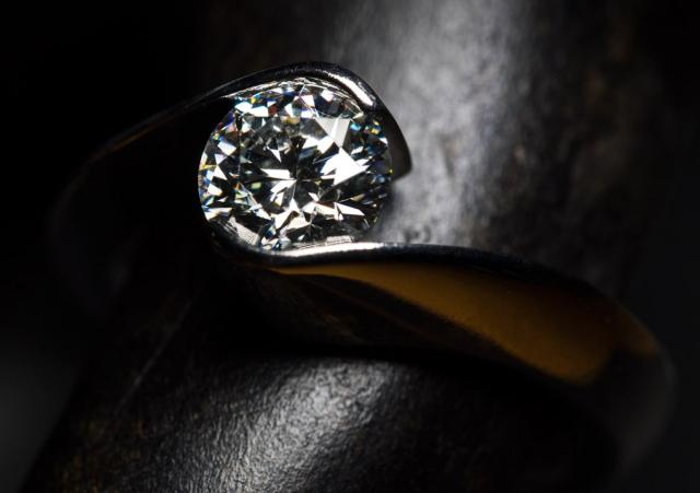 Gelin Abaci Tension-Set Diamond Ring - Image by Fey