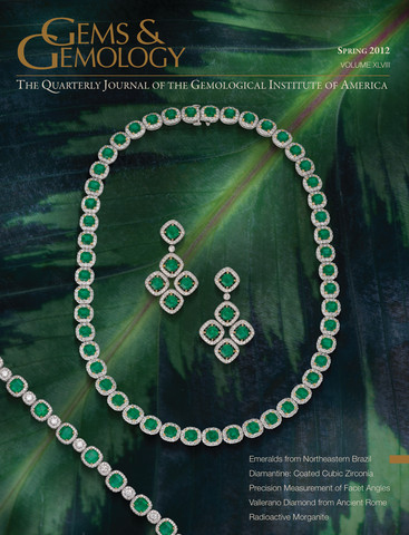 Gems and Gemology free iPad App Screenshot of Spring 2012 issue