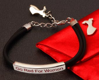 Go Red Bracelet Set for Women's Heart Disease Awareness