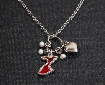Go Red Cluster Necklace for Women's Heart Disease Awareness