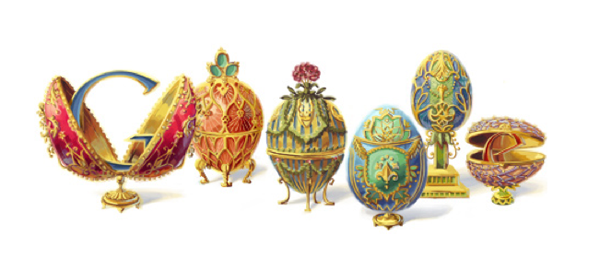 Google Doodle Fabergé eggs