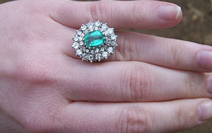 Graff Emerald and Diamond Cocktail Ring