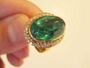 green tourmaline cocktail ring