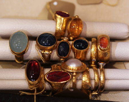 24k gold gemstone rings Gurhan Couture 2011