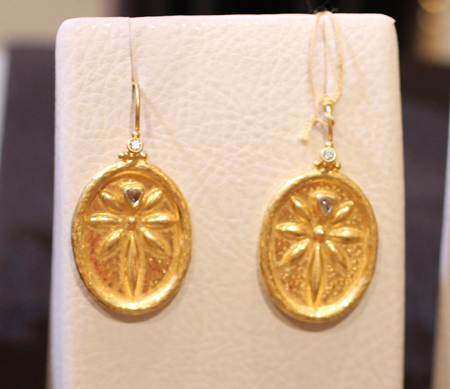 24k gold diamond earrings Gurhan Couture 2011