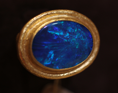 Gurhan opal ring in 24k gold
