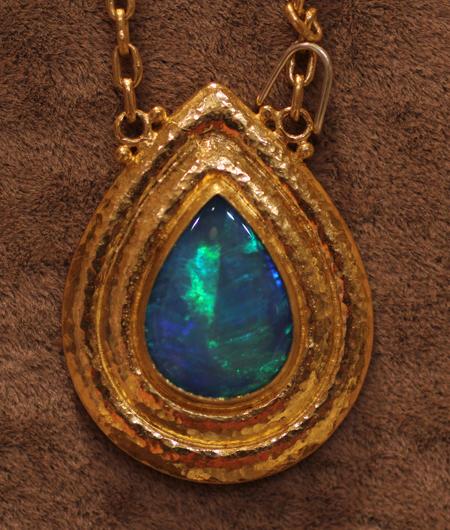 24k gold opal pendant Gurhan Couture 2011