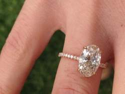 Take a Look: Hailey Baldwin's Engagement Ring (pictured: a ring image posted on the PriceScope Forum by member StaceyCA)
