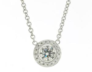 Diamond Pendant with Halo
